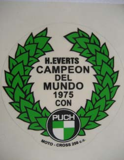 PU31 (corona laurel Harry Everts Campeón 1975)
